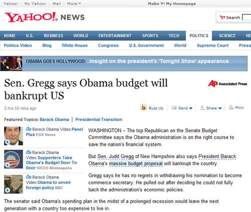 Yahoo News Screenshot